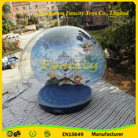 GuangZhou outdoor decoration Christmas inflatable snow globe