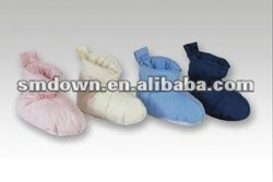 down slippers/lady duvet duck down boots/indoor dot antiskid slippers/indoor warm shoes or slippers