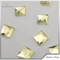 Hot Sell wholesale high quality yellow flatback stones rhinestone for decoration