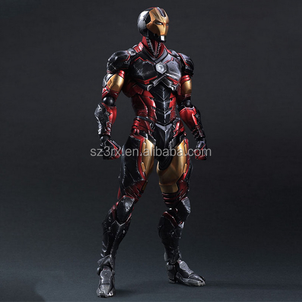 make your cool design custom pvc action figure/customised superhero sapcce warrior movable action figure