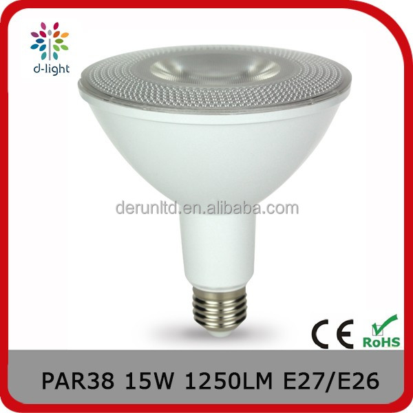 PAR38 15W 1250LM E27 / E26 120*135mm COB led spot light with UL standard