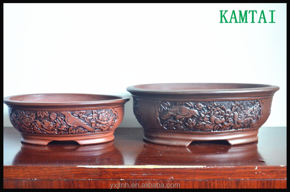 New design chinese unique terracotta ceramic bonsai pot
