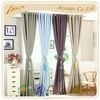 100% polyester yarn dye 70%-90% high Opacity window curtain
