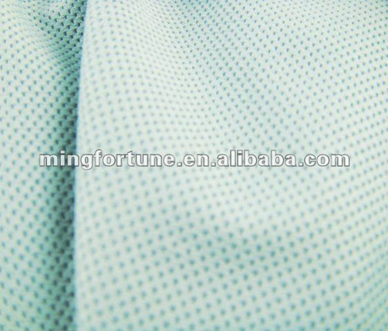 Permanent anti-static and arc protection polyester spandex mesh jersey fabric