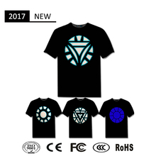 voice activated led tshirts light t-shirt equalizer el t-shirt panel