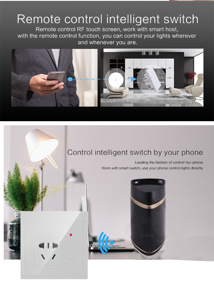 Wifi controlled smart switch with IR extender for home automation