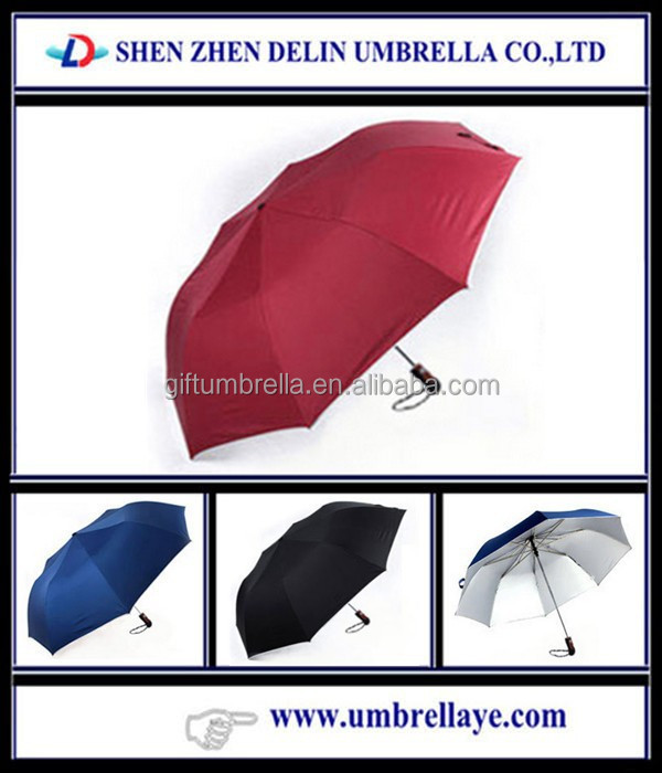 All high quality two fold auto open umbrella witt red color