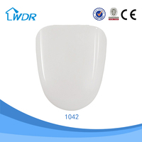 Design healthy soft close self-cleaning decorative european duroplast d shape family toilet seat