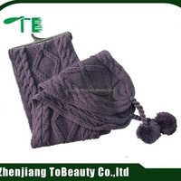 Women Fashion Knitted Scarf With Two