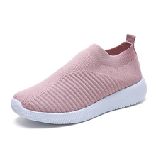 Amazon new product sports shoes adult casual <strong>flat</strong> women sock shoes