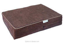Eyelid Design MicroSuede Cover Memory Foam Pet Dog Bed -Chocolate color