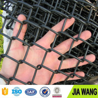diamond shape PVC coated chain link fence ( direct factory )