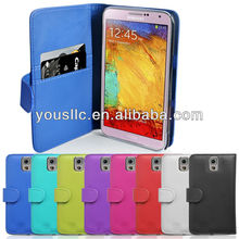 PU Leather flip mobile phone case cover for samsung galaxy note 2 n7100