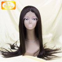 best selling natural color yaki Malaysian human hair full lace wig for black woman