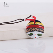 2014 Wholesale Fashion Jewelry ceramic doll fashion changeable pendant necklace
