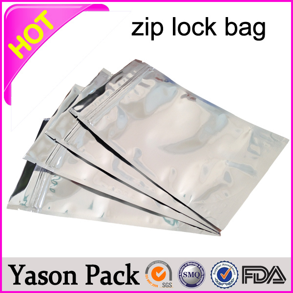 Yason high temperature plastic bags reclosable ziplock antistatic bags slider ziplock bags