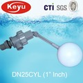 DN25CYL Self Closing Valve Water Tank Float Valve Plastic