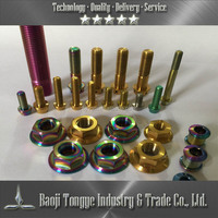 Titanium Fasteners and Nuts Colored Hex Nuts