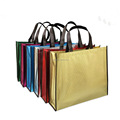 Various colors reusable 110g non woven laminated bag / promotional hand carry shopping bag