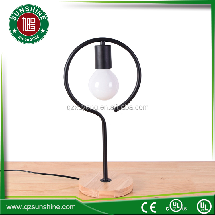 modern shop/hotel simple LED wooden base a table lamp/Round