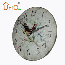 M1214 best price country style wall clocks from China