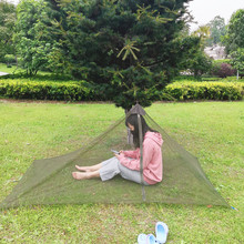 Full Cover Mosquito Pyramid Camping Hiking Traveling Military Mosquito Net <strong>Tent</strong> Shelter With Zipper <strong>Tents</strong> Camping Outdoor