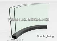 curved double glazing glass thickness