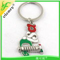 Wholesale Promotion Italy Design Metal Cheap Custom Keychain / Custom Shaped Metal Keyring