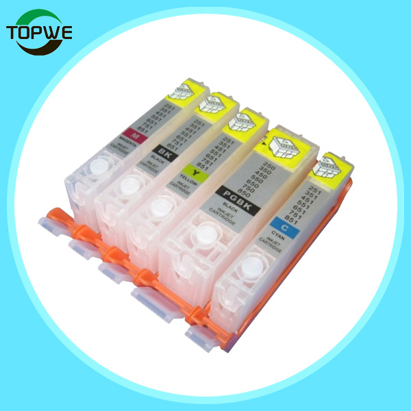 color refillable ink cartridge PGI750 CLI751 for Canon ip7270
