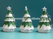 Christmas tree sound led keychain for christmas day promotion gift