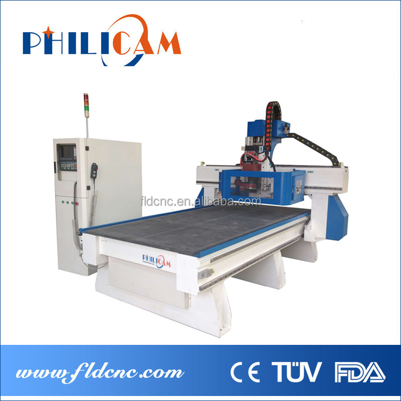 wood ATC CNC router machine price/automatic tool changer ATC cnc woodworking router 1325/3axis spindle cnc 1325 atc