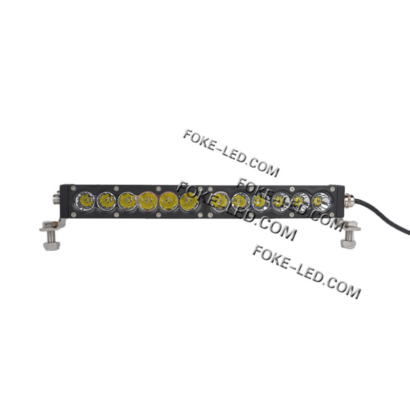 ip68 10-30V 36w amber light 4WD off road led light bar for truck