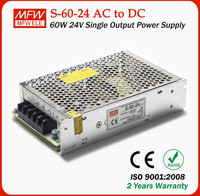 Good quality power supply single output series 60w 24v 2.5a led power supply for 3D printer