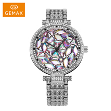 2017 attractive colorful diamond watch for women