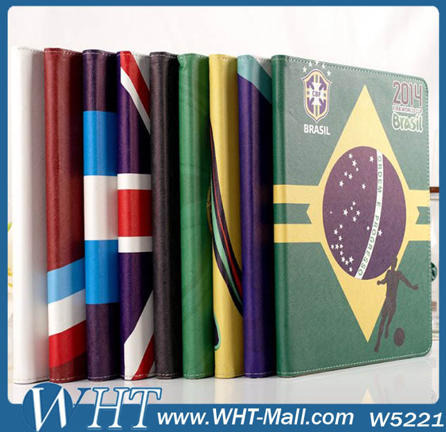 For iPad 234 Air 5 Factory OEM Custom Mobile Phone Wallet Credit Card Cases Leather Flip Grip Protective Cover