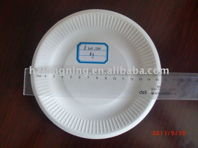 "6"" Plate biodegradable bagasse plate"