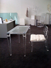 custom high quality clear acrylic lucite vanity table