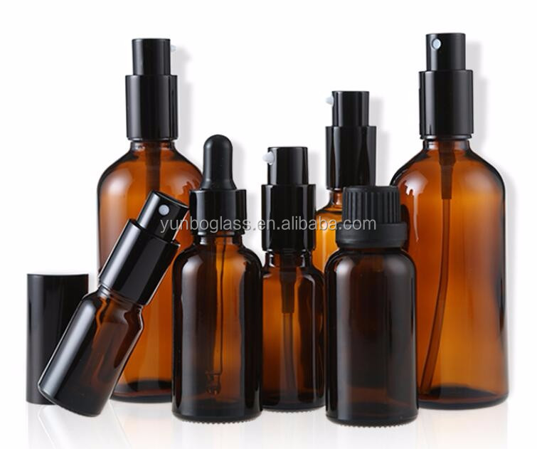 30ml airless pump bottle amber perfume spray pump glass 30ml amber pump sprayer cap bottle 50 ml spray bottle