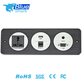 Desk Wall Socket / Table Power Plugs For Hotel Furniture with USB port