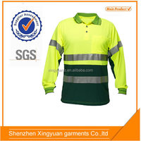 Star SG High visibility fluorescent security long sleeve Reflective Polo Shirts