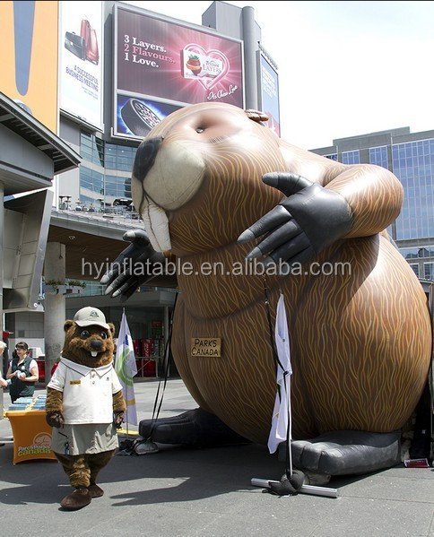 2015 Hot sale inflatable beaver for advertising