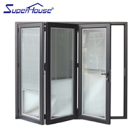 Double Glazing Folding Door Track Aluminum
