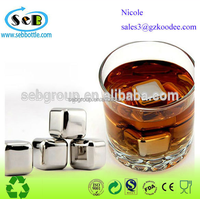 China manufacturer wholesale Stainless Steel Reusable Ice Cube, Whisky ice Stones