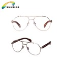 2017 Custom Rimless Fashion Wood Temple Eye Optical Glasses Frame