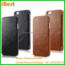 iBest slim leather cover book case for iPhone 6 6 plus, folio pu filp wallet case cover for iphone 6