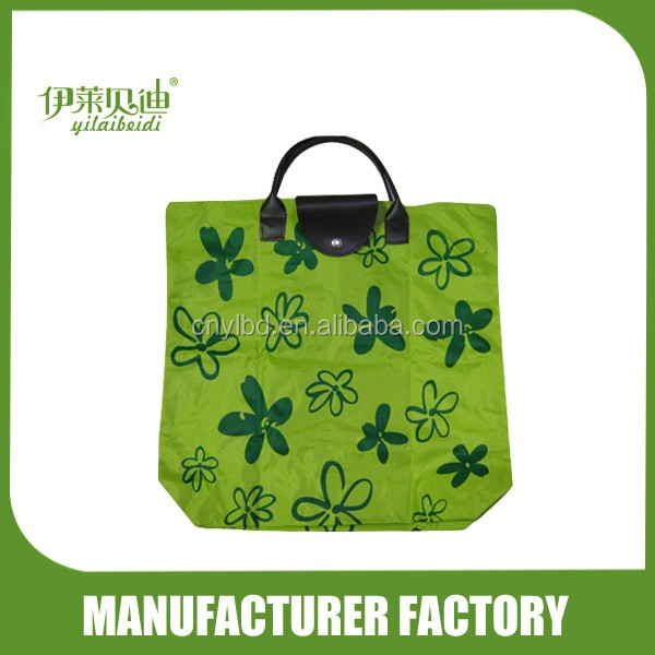 Multi colors flowers printing foldable shopping bags