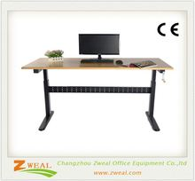 small executive desk adjustable table height mechanisms automatic steel and wood computer