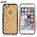 Hot Tartan design with glitter cell phone case/TPU cover for iphone 6 case
