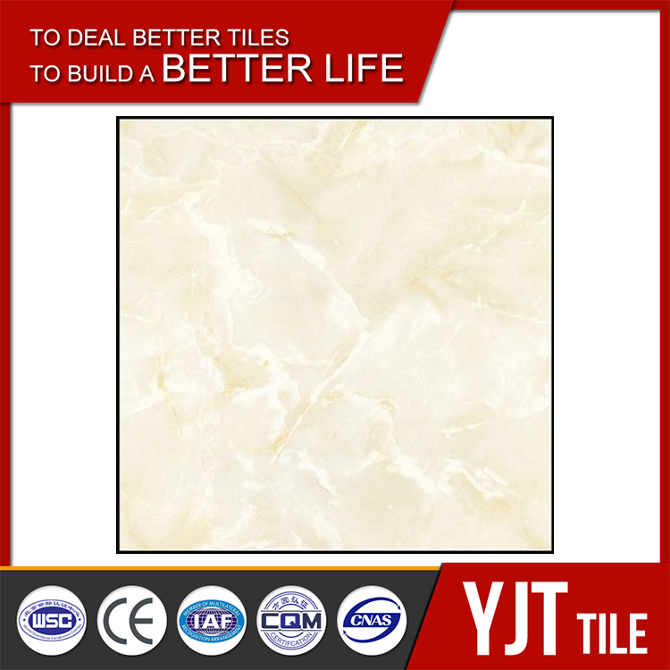 Porcelain good quality light color full polished tile,simple design pictures full polished tile