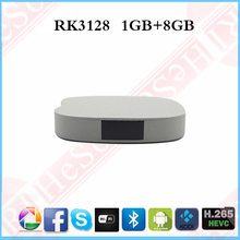 Customized Logo Android TV Box Android 4.4 RK3128 Quad core ARM A53 1+8GB Android Smart TV Box TV Receiver